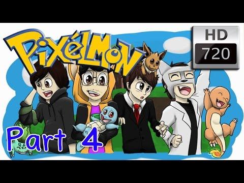 [Pixelmon : Fourly] #4 เริ่มจับ Pokemon