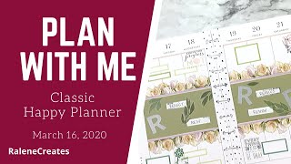 Plan with Me: Happy Planner Mar 16, 2020 RaleneCreates