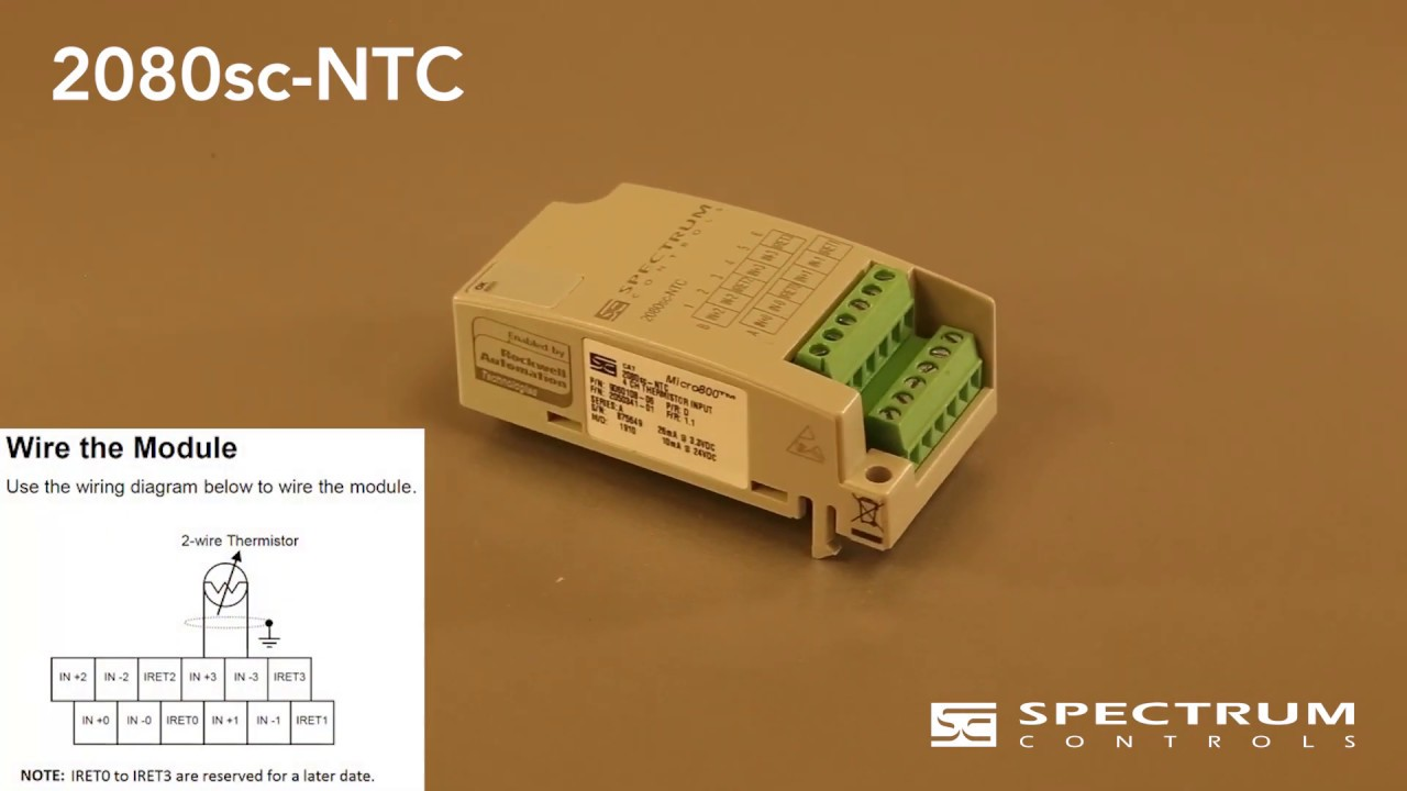 Spectrum Controls 2080sc-NTC 4 CH Micro800 Thermistor Input Plug-In Module New