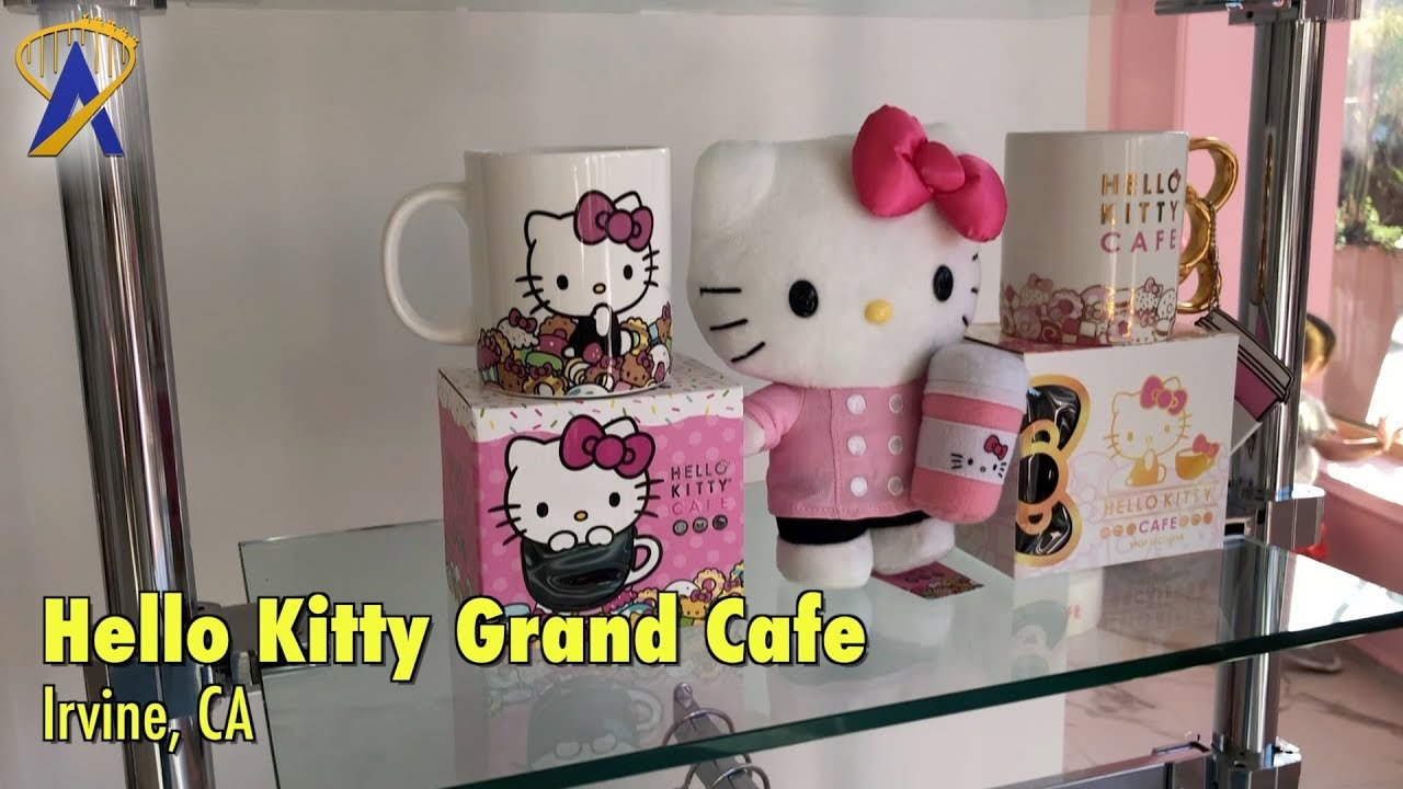 hello kitty grand cafe now open in irvine ca youtube. Black Bedroom Furniture Sets. Home Design Ideas