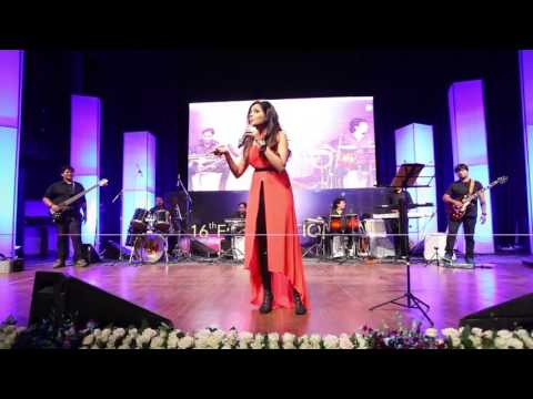 Sugandha Mishra performing  at the RailTel Annual Day 2015