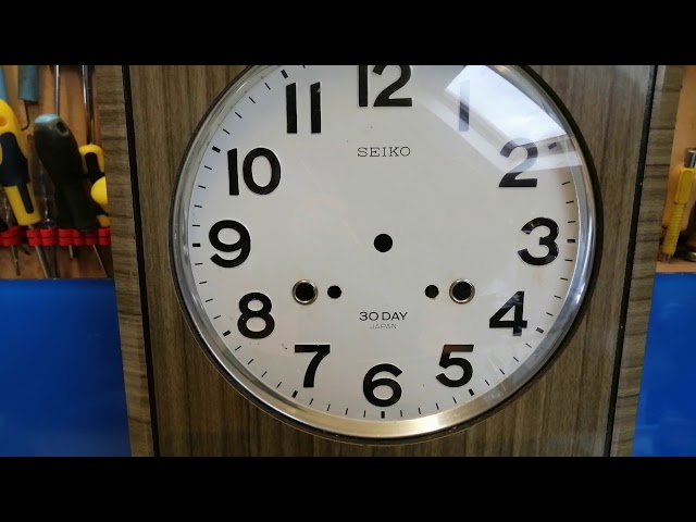 #1. Seiko 30 Day wall clock   Rebushed
