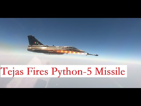 LCA Tejas Fires Israeli Python-5 Missile | Indian Air Force