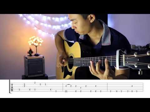 Pumped Up Kicks Fingerstyle Guitar Lesson FREE TABS TUTORIAL - Rodrigo Yukio