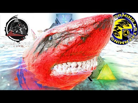 ARK: SURVIVAL EVOLVED: ALPHA MEGALODON TAMES AND FISHING FAILS! [RePuG EXTINCTION CORE MODDED EP46]