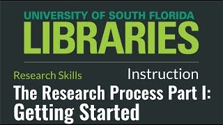 The Research Process Part I: Getting Started