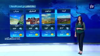 النشرة الجوية الأردنية من رؤيا 15-7-2019 | Jordan Weather