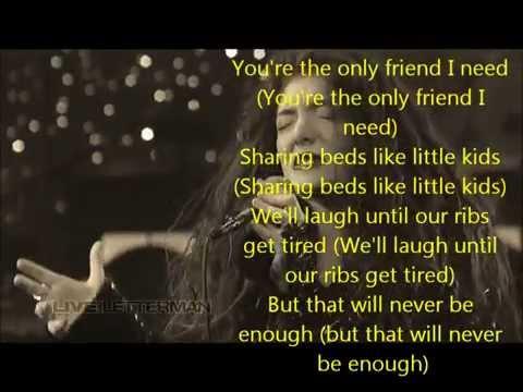 Lorde- Ribs Lyrics HD With Video