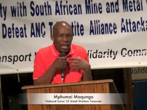 The Struggle Of Labor In South Africa And NUMSA's Call For A Workers Party