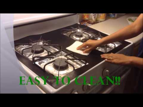 Gas Stove Cover and Protector - Never clean your top again!