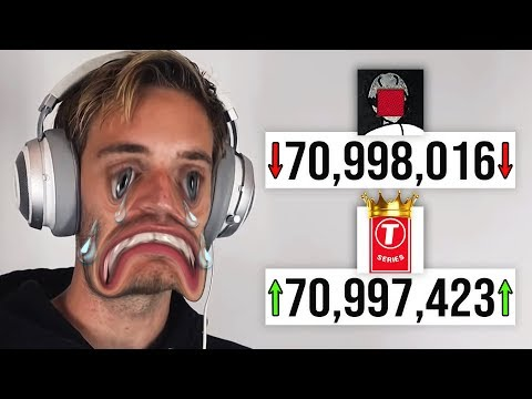 The Battle Of YouTube: T-Series vs PewDiePie LIVE