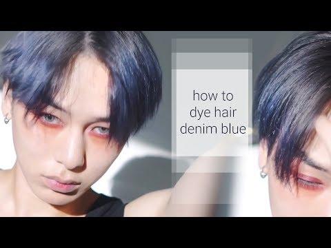 how to dye hair denim blue!