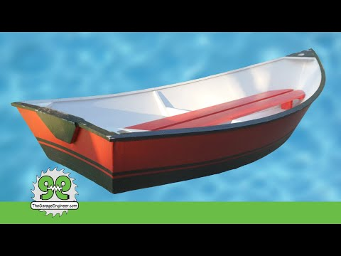 Build A 7.5 Foot Boat With 2 Sheets Of Plywood -The Garage Engineer And Trail47