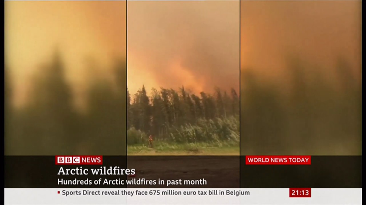 (JULY 2019) Weather Events 2019 - Unprecedented wild fires rage (1) (Arctic) - BBC News - 26th July