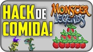 HACK MONSTER LEGENDS COMIDA | luisitoño1