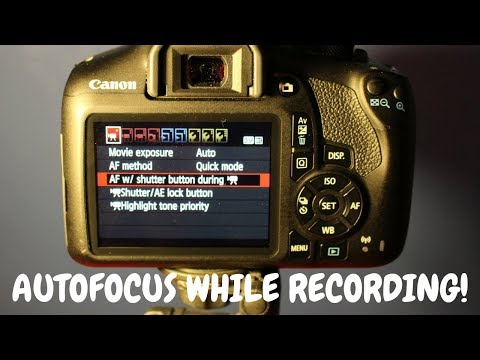 How to AutoFocus on Canon Rebel T6 while Recording!