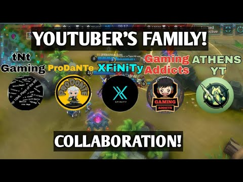 GREAT MLBB YOUTUBER'S COLLABORATION! ft. Pro Dante, Gaming Addicts, Xfinity, tNt Gaming, Athens YT