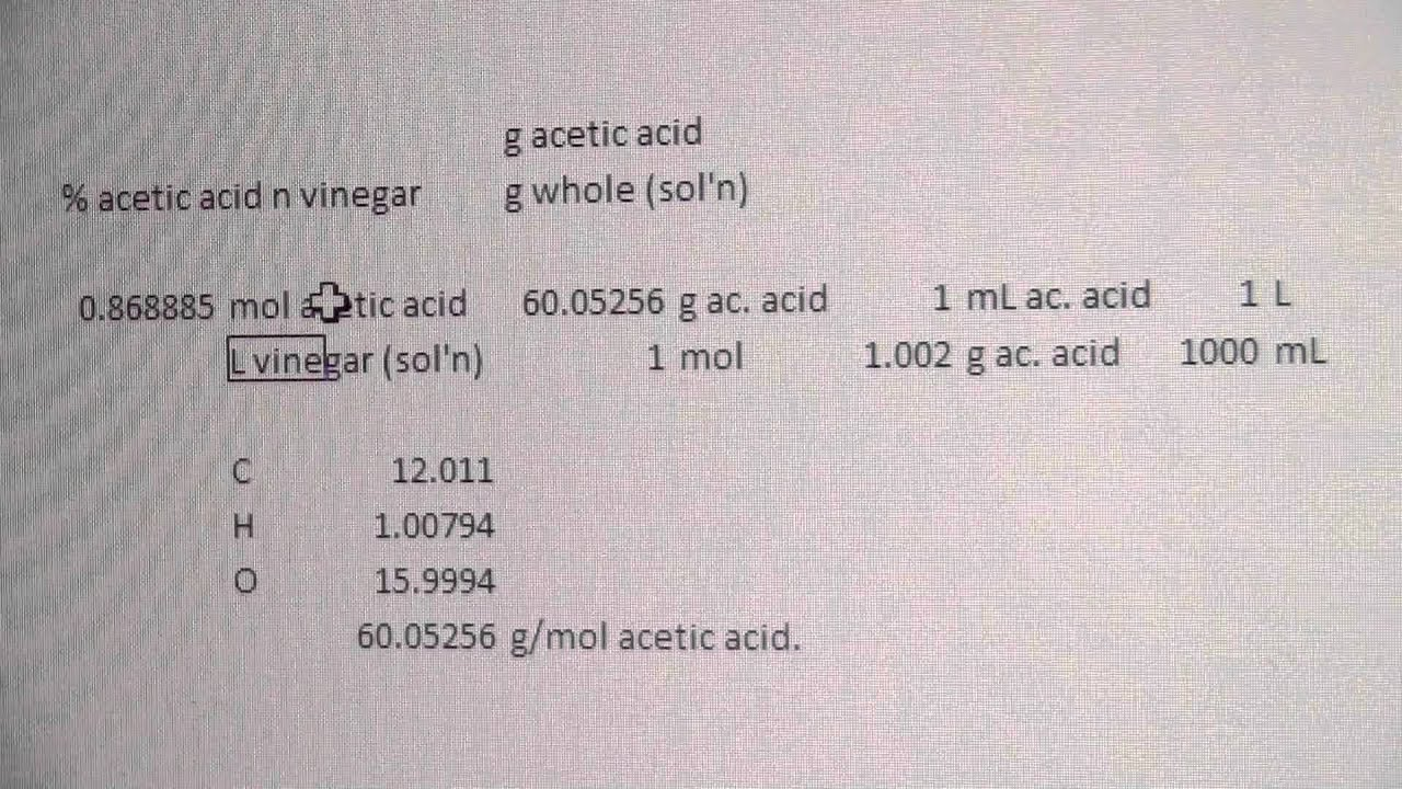 titration of acetic acid essay An acid-base titration is a neutralization reaction that is performed in the lab in order to determine an unknown concentration of acid or base the moles of acid will equal the moles of base at the equivalence point.