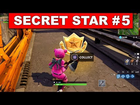 SECRET BATTLE STAR WEEK  SEASON  LOCATION! - Fortnite Battle Royale (Road Trip Challenges)