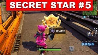 SECRET BATTLE STAR WEEK 5 SEASON 5 LOCATION! - Fortnite Battle Royale (Road Trip Challenges)