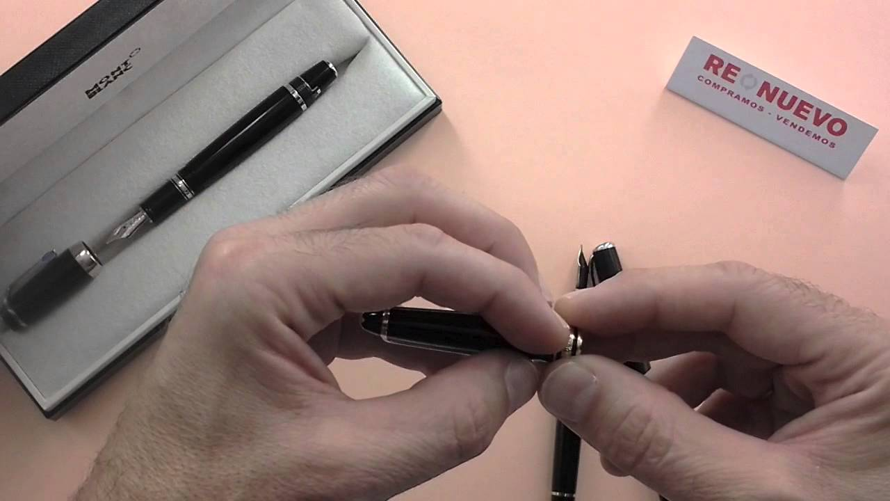 9d203e8c6 Como comprobar que una pluma o bolígrafo MONTBLANC son auténticos - YouTube