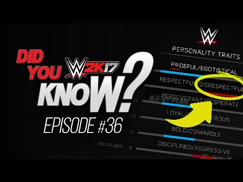 WWE 2K17 Did You Know? Personality Traits...