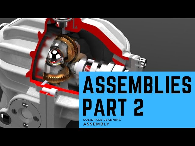 Learn how to use 3D Modeling Software - 33 - Assemblies Part 2