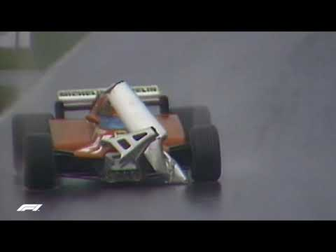 Gilles Villeneuve Drives Unsighted    1981 Canadian Grand Prix