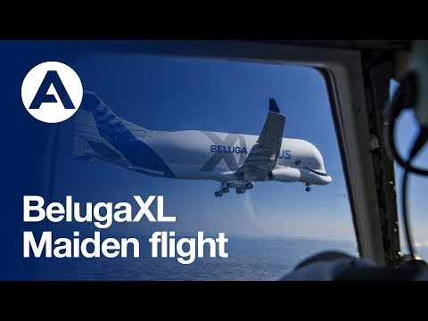 First Flight Of Airbus' BelugaXL