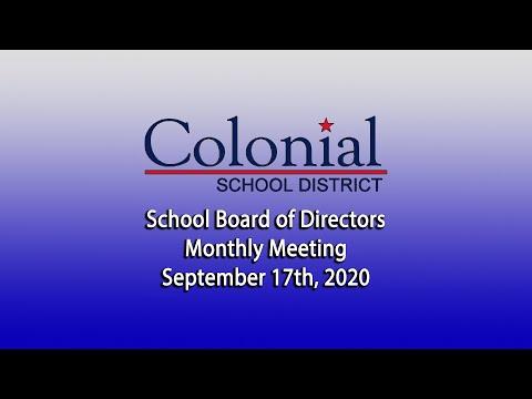 September School Board Meeting - 9/17/20