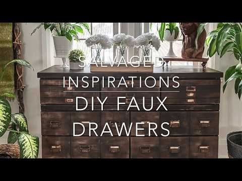 DIY Faux Drawers | Antique Apothecary Cabinet Makeover