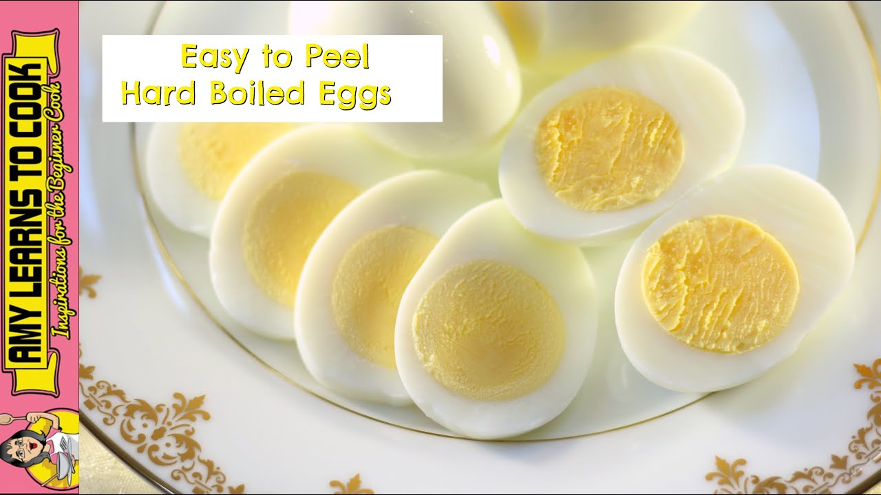 How To Cook Easy To Peel Hard Boiled Eggs  Amy Learns To Cook