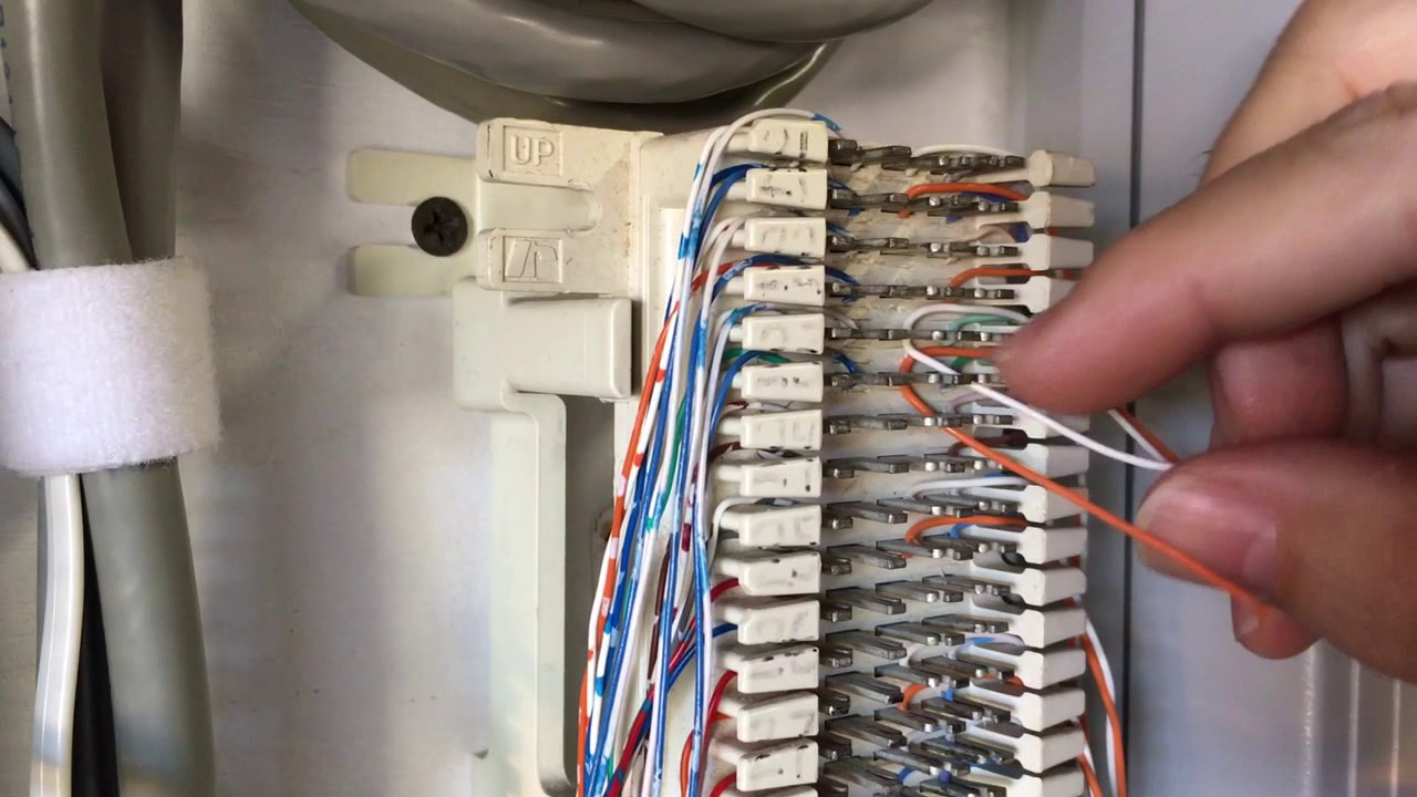 hight resolution of connecting wires to 66 block without punch tool youtube telephone wiring connector block