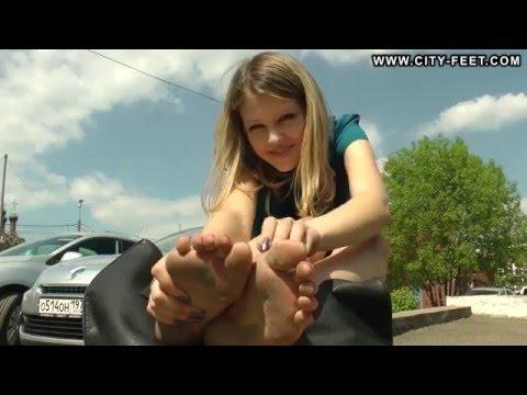 City-Feet.com - Blonde in blue dress - Ekaterina [4]