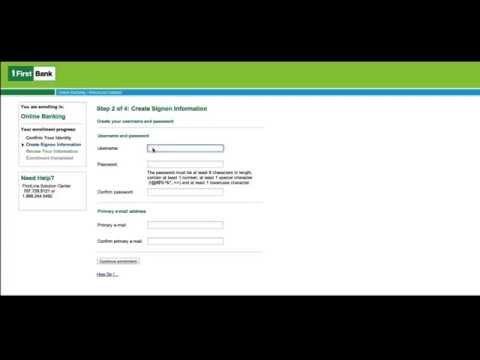 FirstBank - Tutorial Banca por Internet