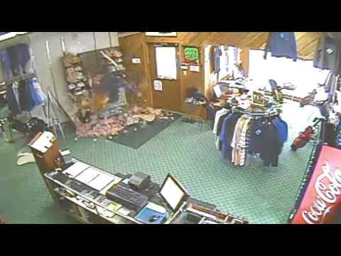 The Ace & TJ Show - Pro Shop Worker FALLS Through Ceiling!