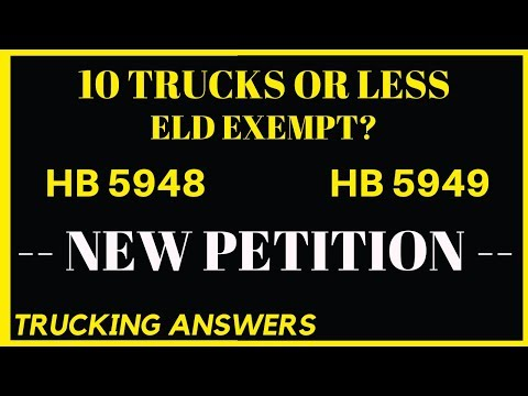 New petition to exempt small fleets from ELD mandate