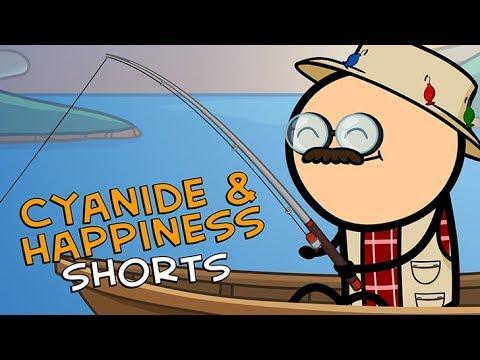 Fisherman Fred - Cyanide & Happiness Shorts