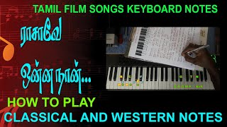 RAASAAVAE ONNA NAAN ENNITHAAN/CLASSICAL AND WESTERN NOTES / MY MUSIC MASTER