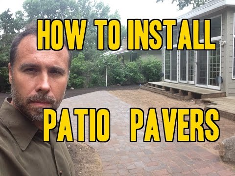How to Install Paver Patios, Walks and Driveways