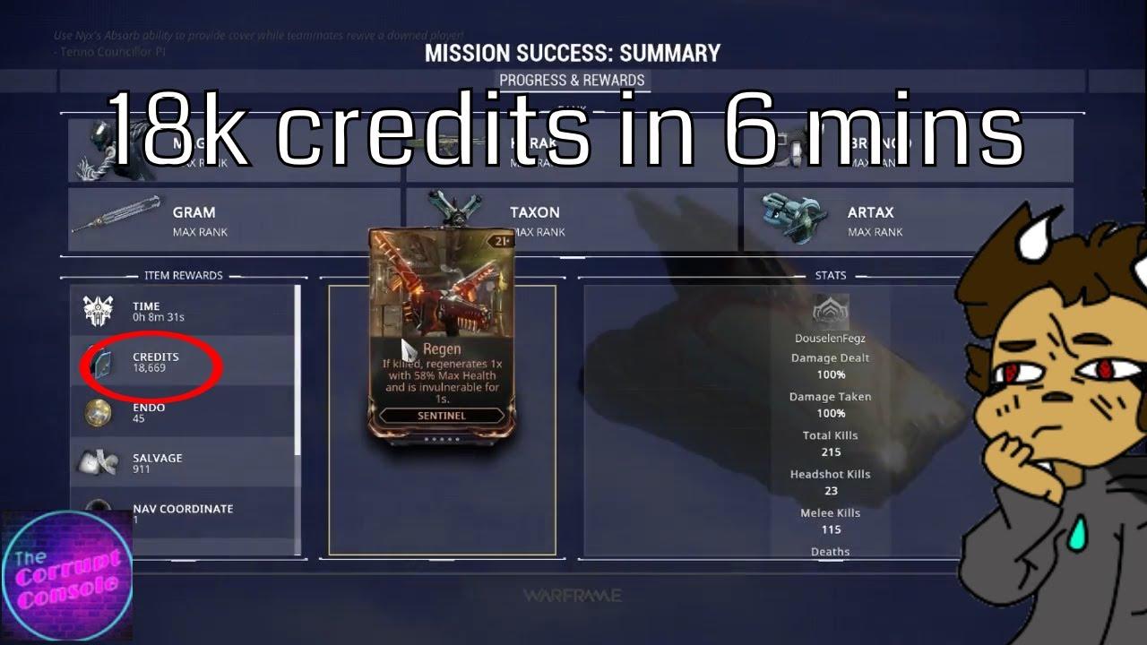 best way to farm credits warframe