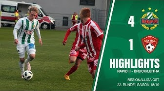 Highlights: Regionalliga Ost, 22. Runde: Rapid II - Bruck/Leitha 4:1