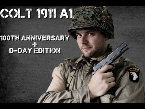 Colt 1911A1 KWC (100th Anniversary + D-Day edition) video review