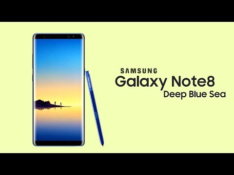 Galaxy Note 8 - OFFICIAL DEEP BLUE SEA COLOR!