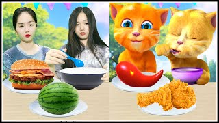 Eating with Ginger Contest - Talking Ginger 2 In Real Life screenshot 5