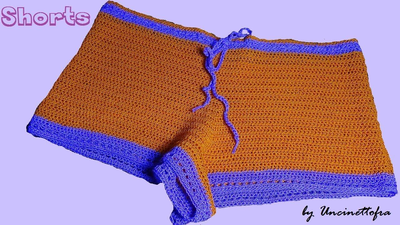 sito affidabile 3ae81 f98ec Top and shorts all'uncinetto tutorial (gli shorts)