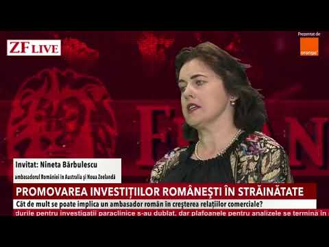 ZF Live with Ambassador Nineta Bărbulescu on tripling bilateral trade between Romania and Australia