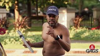 Police Strips Down to Give Ticket   Just For Laughs Gags