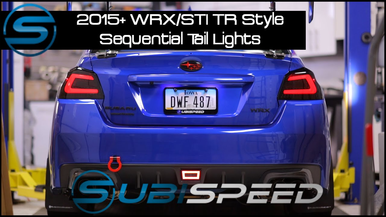 Subispeed - 2015 WRX/STI TR Style Sequential Tail Lights ...
