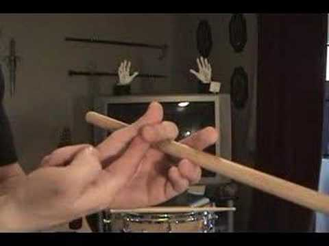 "A brief description and demonstration on how to hold and play with drumsticks using ""traditional"" technique."
